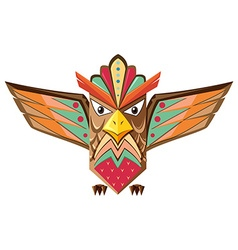 Totem pole shaped of an owl vector image