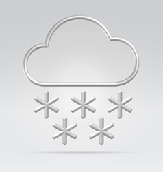 wire weather snow vector image