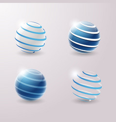 3d icons set vector