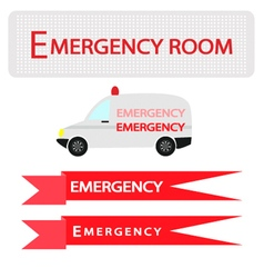 Ambulance with Emergency Banner vector