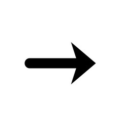 Arrow glyph icon and pointer sign vector