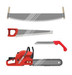 Axeman instruments set hand saws carpentry tools vector