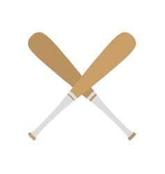 baseball bat equipment icon vector image