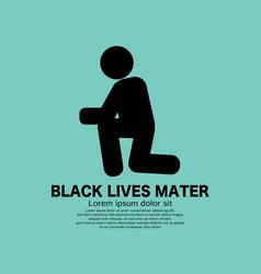 Black symbol kneeling person vector