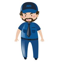 Bus driver in blue uniform vector