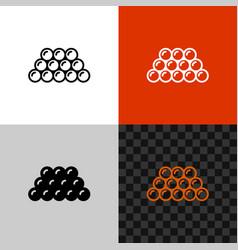 caviar icon line style fish caviar symbol vector image