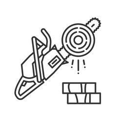 Chainsaw linear icon vector