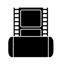 Cinema film tape icon vector
