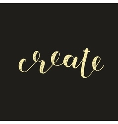Create Brush lettering vector image