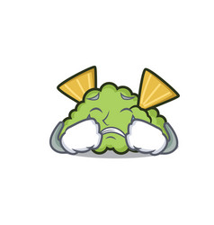 Crying guacamole mascot cartoon style vector