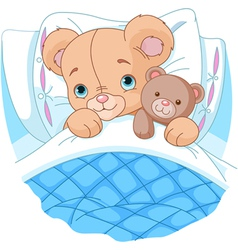 cute babear in bed vector image