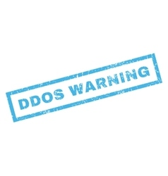 Ddos Warning Rubber Stamp vector