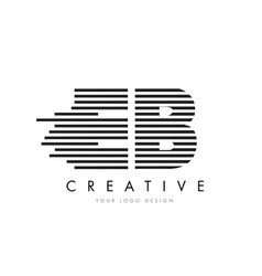 eb e b zebra letter logo design with black and vector image