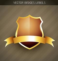 elegant label vector image