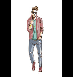 Fashion man fashion man in vector