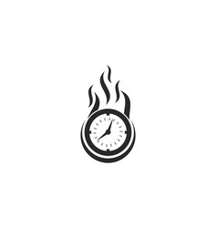 Fast time logo vector