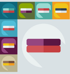 Flat modern design with shadow icons books vector