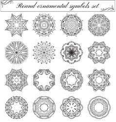 Geometric circular ornament set vector