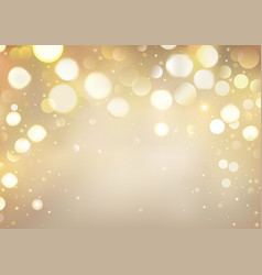 golden bokeh background with sparkling lights vector image