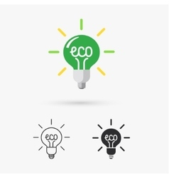 Green ecology bulb vector image