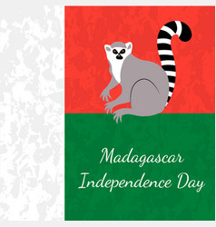 independence day in madagascar 26 june flag of vector image