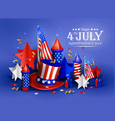 Independence day - luxury background 4th vector