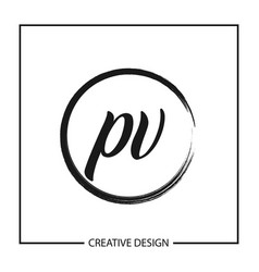 Initial letter pv logo template design vector