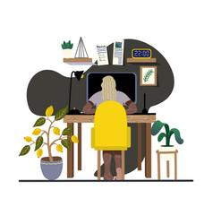 interior designer workplace home decor vector image