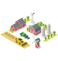 isometric farm set vector image