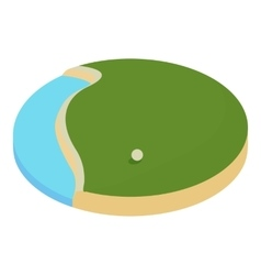lake in the golf course icon cartoon style vector image