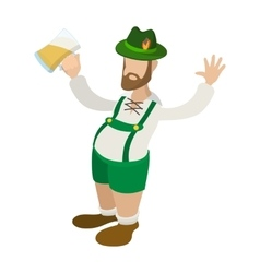 Man in leprechaun costume cartoon icon vector image