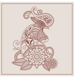 Mehendi henna rooster vector