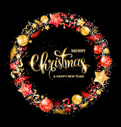 merry christmas and new year 2020 vector image