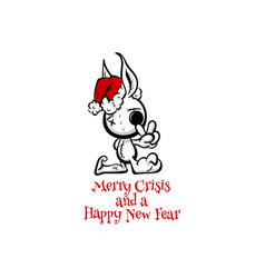 Merry crisis and happy new fear evil santa vector