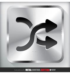 Metal Shuffle Button Applicated for HTML and Flash vector image