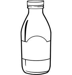 Milk bottle cartoon vector image