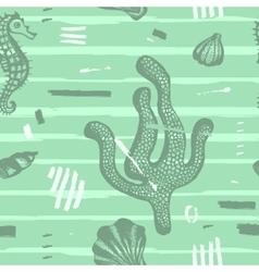 Modern seamless sea pattern vector image