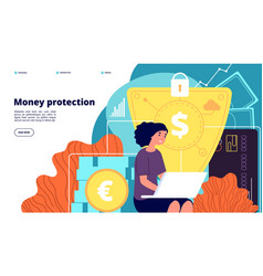 money protection financial security business vector image