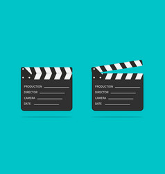 movie clapper board slate clapperboard vector image