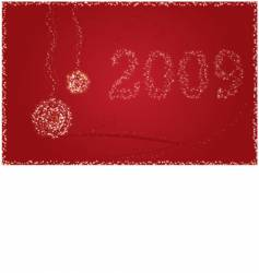 New Year 2009 card vector image