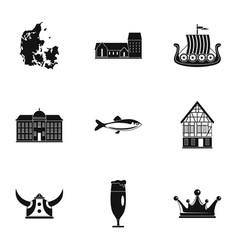 Northland icons set simple style vector