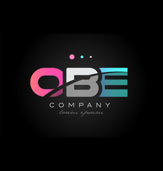 obe o b e three letter logo icon design vector image