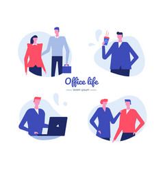 Office life - flat design style characters vector