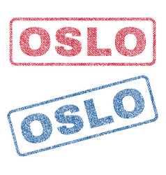 oslo textile stamps vector image