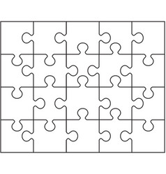 pieces of white puzzle vector image