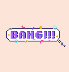 pixel bang sticker vector image