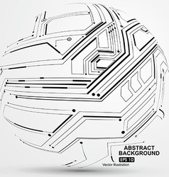 Point and line constructed the sphere wireframe vector