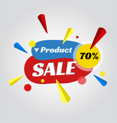 Price tag for sale promotion vector