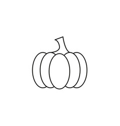 pumpkin of icon the helloween the evil vector image