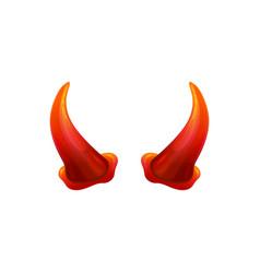 red devil horns for evil halloween costume vector image